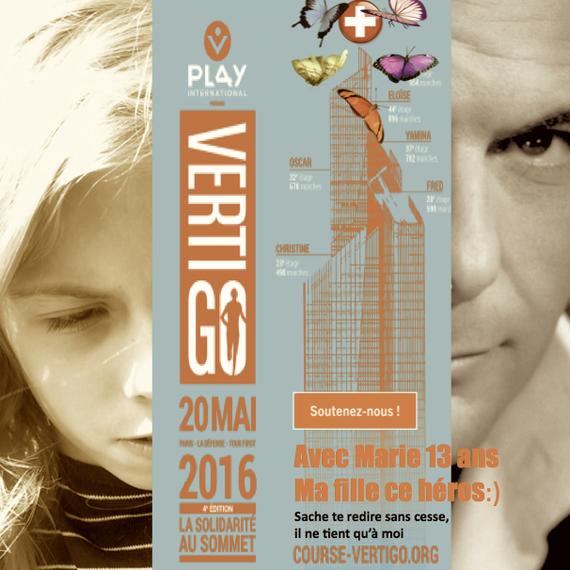 TANDEN SOLIDAIRE PERE & FILLE  Gravir 48 étages pour la beauté du geste et aider les enfants